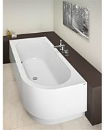 Hoesch Happy D. Eck Badewanne 6484.010 180x80cm, weiss, Einbauversion, Ausführung links