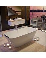 Hoesch Lasenia Freisteh-Badewanne 4503.010 180x80cm, weiß, aus Solique