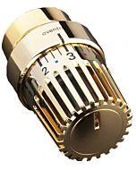 Oventrop Uni LH Thermostat 1011468 7-28 GradC, mit Nullstellung und Decoring, vergoldet
