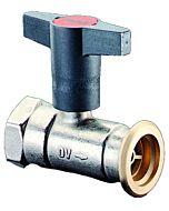 Oventrop Pumpenkugelhahn Optibal P 1078172 mit Sperrventil, DN32, 1 1/4