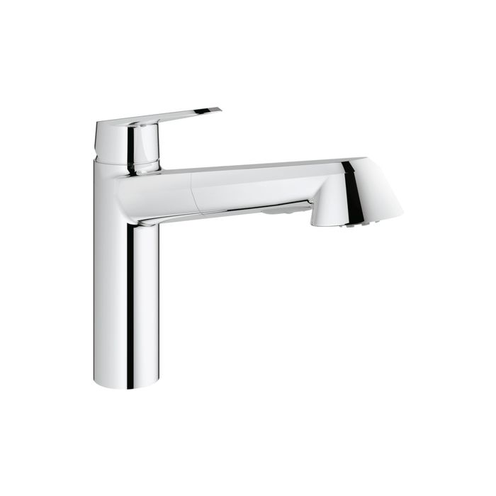 Grohe Sink Mixer Eurodisc 31121002 Low Pressure Chrome With Pull Out Spray