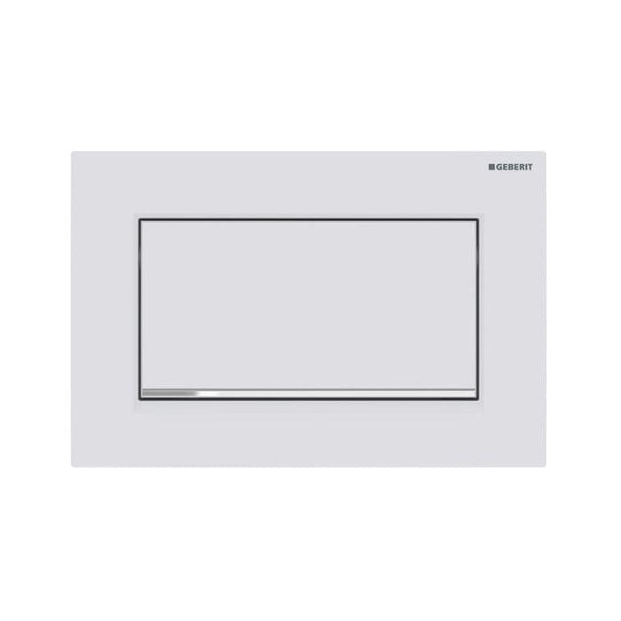 Geberit Sigma30 Geberit Sigma30 115893jt1 White Matt Lacquered High Gloss Chrome Plated