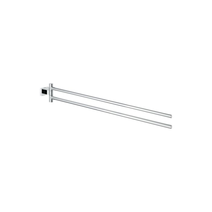 cost charm good out x on feet shots of Grohe Essentials Cube towel rail 40624001 chrome, 2-arm, 439 mm, swiveling