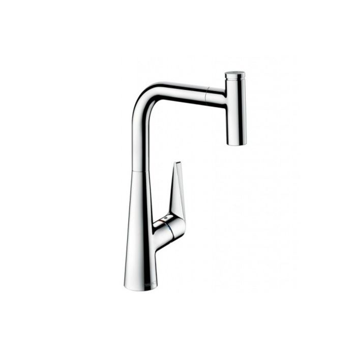 Hansgrohe Talis Select S220 Kitchen Faucet 72822000 Chrome Swiveling Pull Out Spout