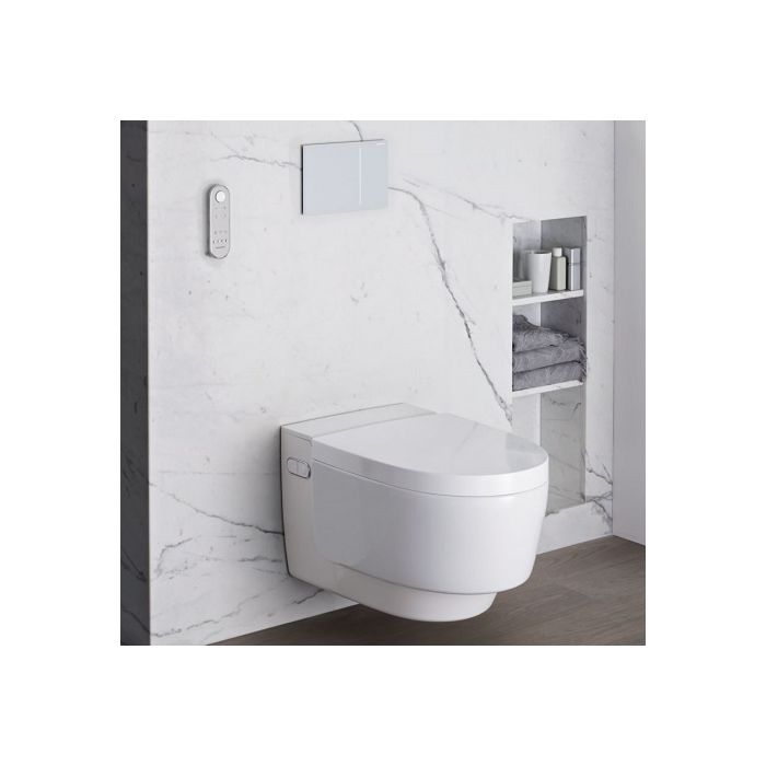 Geberit AquaClean Mera Classic 146200111 Dusch-WC Komplettanlage, Wand-WC,  weiß