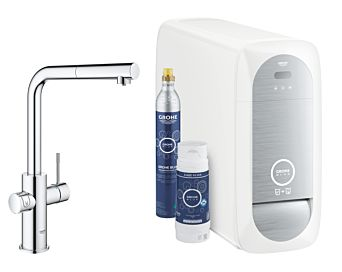 Grohe Blue Home Starter Kit 31539000 chrome, L-spout, pull-out spray