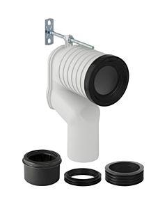 Geberit Anschlussbogen Set P 131081111 für Stand-WC, Anschluss an Bodenablauf