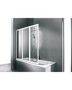 Hüppe Combinett 2 Badewannenaufsatz AC0401087321 Profil silber matt, 139,7-141,2x140 cm, ESG klar