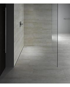 poresta systems Duschfläche Slot 20000251 senkrechter Ablauf, Fliesenprofil 12 mm