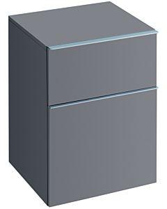Keramag Seitenschrank iCon 840047000 45x60x47,7cm, Platin hochglanz, Schublade & Auszug