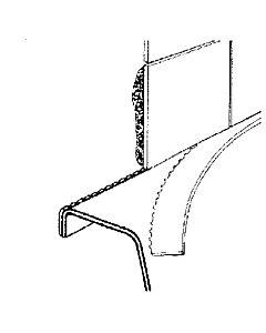 Keramag Wannenprofilband Rolle a 3,30 mtr.