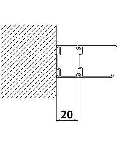 Kermi Stockverbreiterung Ibiza 2000 SVE Höhe 185 cm, silber, für Gleittür 2-teilig