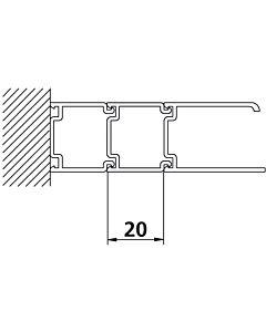Kermi Stockverbreiterung Ibiza 2000 SVP Höhe 185 cm, silber/mattglanz für Pendeltür
