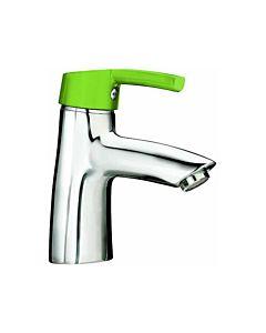 Laufen Florakids Waschtisch-Einhebelmischer  H3116510141111, grün, mit Ablaufgarnitur