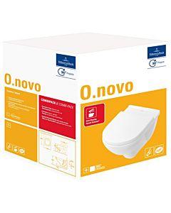 Villeroy & Boch O.Novo Wand Tiefspül WC 5660H101   Combi Pack, weiss, WC + WC-Sitz