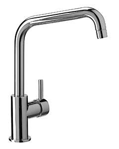 Herzbach Design New Küchenarmatur 10.135150.2.01 chrom, Niederdruck, Ausladung 21,5 cm