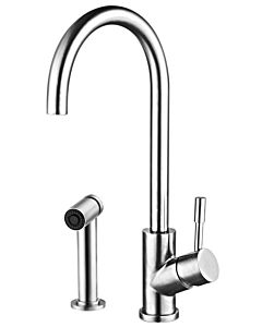 Herzbach Design iX Küchenarmatur 17137120109  edelstahl, Ausladung 180 mm, Brausekopf ausziehbar