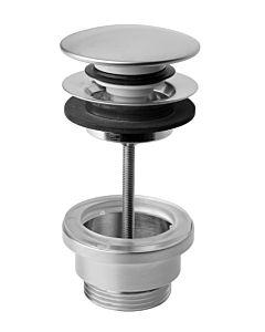 Herzbach Design iX Ablaufventil 17432900109 Edelstahl gebürstet, ohne Überlauf