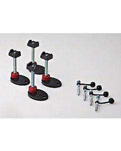 TECE Montagefüße 660003 90 - 139mm, schallentkoppelt, Set = 4 St