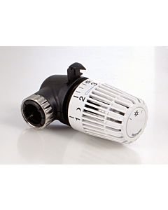 Heimeier Thermostatkopf WK 730000500 weiss, Winkelfrom, eingebauter Fühler, RAL9016