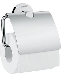 Hansgrohe Logis Universal Papierhalter 41723000 Messing, mit Deckel, chrom
