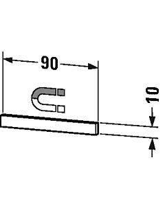 Duravit Brioso Magnetleiste UV970900000 Edelstahl poliert