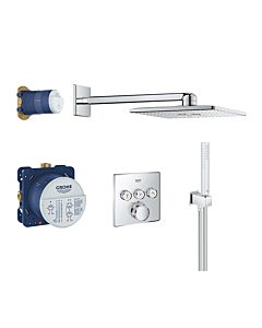 Grohe Grohtherm Smartcontrol Duschsystem 34706000 chrom, UP Thermostat, Kopf- und Handbrause