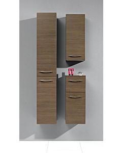 Artiqua Midischrank Serie 818, 73x30x30cm Anschlag links, Graphit Struktur, 1 Tür, 1 Auszug