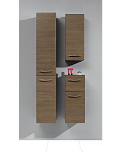 Artiqua Midischrank Serie 818, 73x30x30cm Anschlag rechts, Weiss Glanz, 1 Tür, 1 Schublade