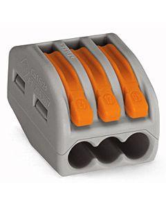 Wago Verbindungsklemme 3x0,08-4 qmm grau 222-413