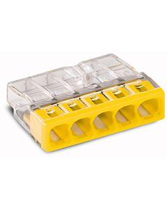 Wago Verbindungsdosenklemme 5x 0.5-2.5 2273-205 gelb