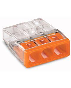 Wago Verbindungsdosenklemme 3x 0.5-2.5 2273-203 orange