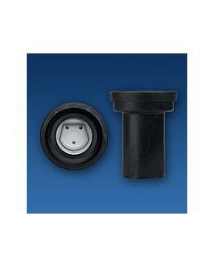 Sanit WC-Anschlussstutzen 5892900000  mit Rattensperre, schwarz, DN 100