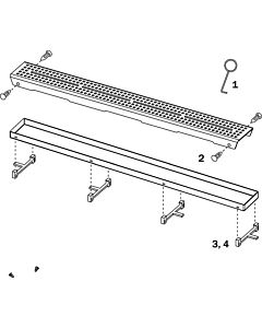 TECE , stainless steel, 668024 to tile trough (until August 2007), spare part