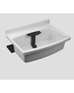 Sanit Beckenkombination maxi 60008B60099  granit, Ablage  anthrazit, mit Standrohr, Trichter