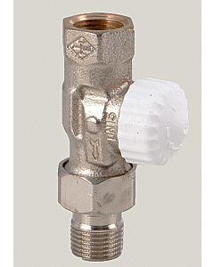 "Heimeier Thermostatventil V-exakt II 371202000 Durchgang, Rp 1/2"", Rotguss vernickelt"