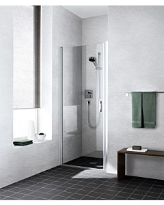 Kermi Pendeltür Liga LI1WL090201AK 90x200cm, silber/mattglanz, Echtglas klar, links