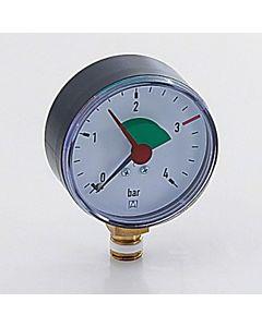 """Afriso Manometer 0-4 bar, senkrecht 63910 Gehäuse 63mm Durchmesser, 3/8"""" Anschluss"""
