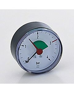 """Afriso Manomater 0-4 bar, waagerecht 63914 Gehäuse 63mm Durchmesser, 3/8"""" Anschluss"""