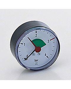 """Afriso Manometer 0-4 bar, waagerecht 63915 Gehäuse 63mm Durchmesser, 1/4"""" Anschluss"""