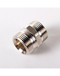 """Oventrop Doppelnippel 1028263 3/4""""x3/4"""", Messing vernickelt"""