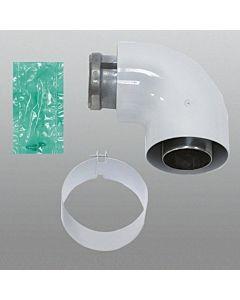 Vaillant Bogen 90 Grad 60/100 mm 303808 konzentrisch, Aluminium