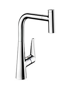 hansgrohe Talis Select S300 Küchenarmatur 72821000 chrom, schwenkbar, herausziehbarer Auslauf 150°