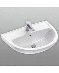 Gustavsberg Saval 2.0 Waschtisch 7G116001 60 x 45,5 cm, weiss, mit Hahnloch und Überlauf
