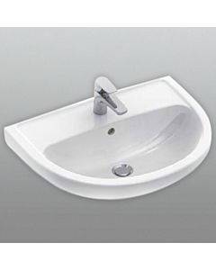 Gustavsberg Saval 2.0 Waschtisch 7G115501 55 x 43,5 cm, weiss, mit Hahnloch und Überlauf