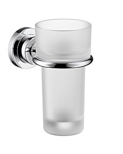 hansgrohe Zahnbecher Axor Citterio M 41734000 Kristallglas, Halter Metall, chrom