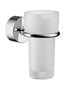 hansgrohe Zahnbecher Axor Uno 41534000 Kristallglas, Halter Metall chrom