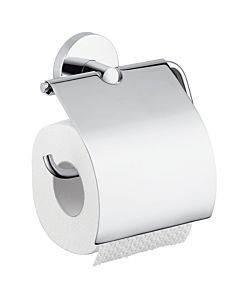 hansgrohe Papierrollenhalter Logis 40523000 chrom, Messing, mit Deckel