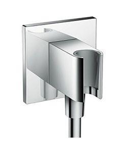 hansgrohe Fixfit Porter Square Schlauchanschluss 26486000, chrom, DN 15, Handbrausehalter