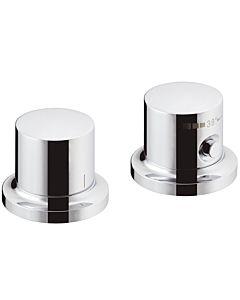 hansgrohe Fertigmontageset Axor Massaud 18480000 2-Loch-Wannenrand-Thermostat, chrom